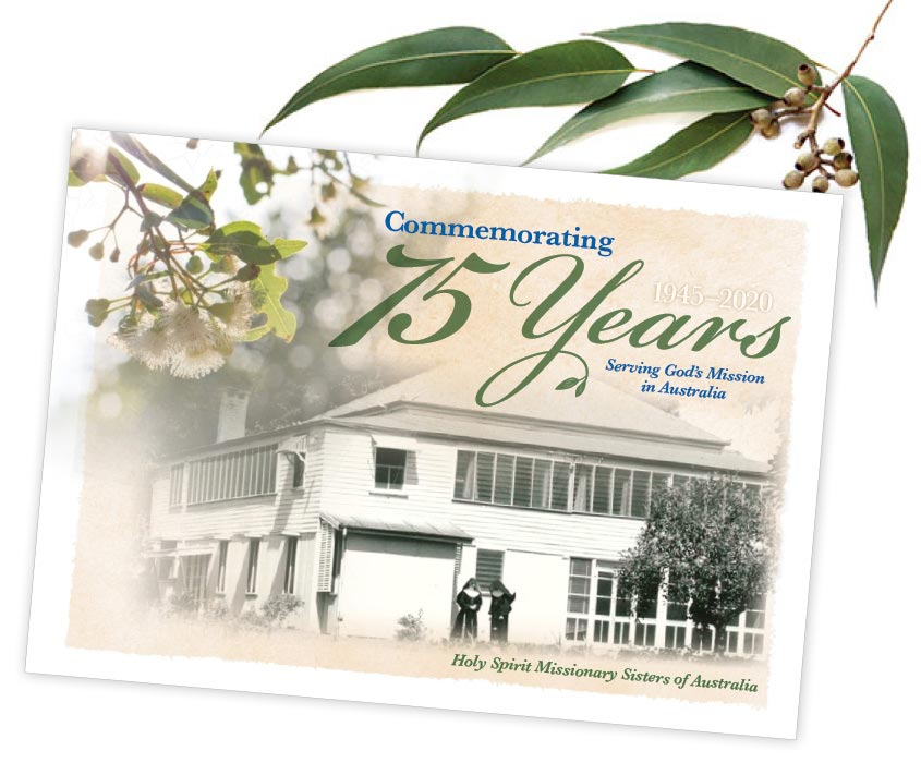 HSMS Home Commemorative Book with gum leaves